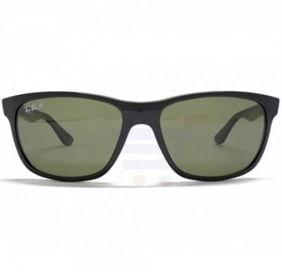 Ray-Ban Wayfarer Black Frame & Polarised Green Mirrored Sunglasses For Unisex - RB4181-601-9A-57