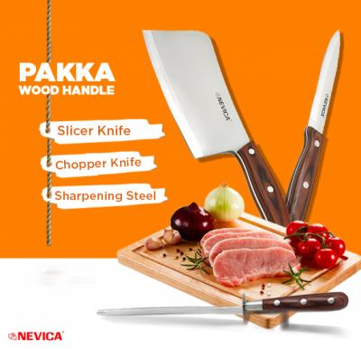 Nevica Knife 5 Plus Chopper Knife 6 Free Iron Sharpening Tool, NV-SK5+NV-CP6+NV-SS8