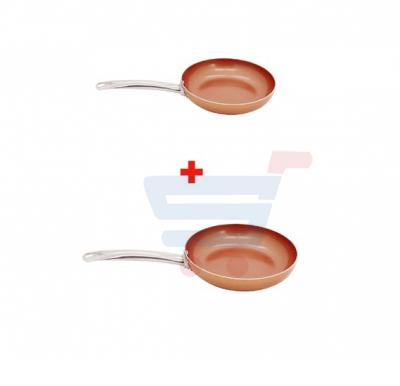 Bundle-Combo Offer Sonashi 5 In 1 Copper Coated Fry Pan - Round 24cm SFP-8024 + Sonashi 5 In 1 Copper Coated Fry Pan - Round 26cm SFP-8026