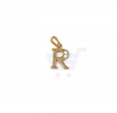 Xuping Necklace Pendant Gold Plated Letter  R