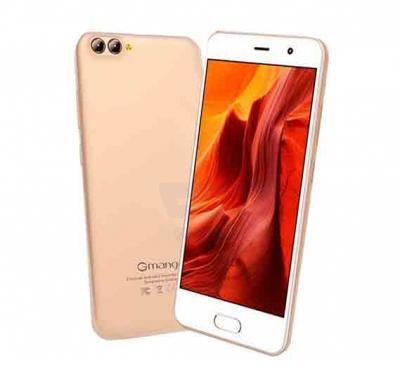 Gmango X1 4G Smartphone, 5.5 inch HD Display,Android 7.1,3GB RAM,32GB Storage, Quad Core, Dual SIM, Dual Camera - Gold