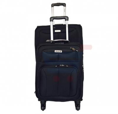 Combo offer! Abraj 2Pcs Trolley Black 20 and 28inch