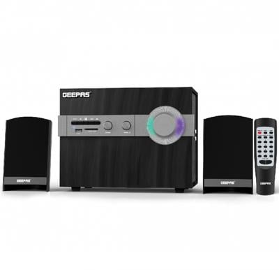 Geepas 2.1 Channel Powerful Multimedia Bluetooth Speaker GMS8516, with USB / SD Card Reader