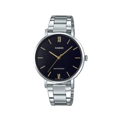 Casio Womens Black Dial Analog Dress Watch, LTP-VT01D-1BUDF