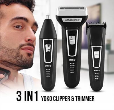 Yoko 3 in 1 YK-6558 Dry For Men - Clipper & Trimmer