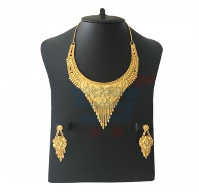 Lama Arts 22K Gold Plated Design Necklace Set, LM 006