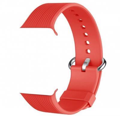 Promate Silica-42 Silicone Watch Strap, Red