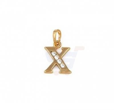 Xuping Necklace Pendant Gold Plated Letter  X