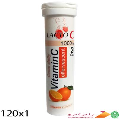 120 In 1 Lacto C Vitamin C Effervescent Tablets