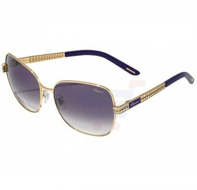 Chopard Butterfly Square Shiny Rose Gold Frame & Grey Gradient Mirrored Sunglass For Women - SCHB25S-0E66