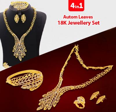 4 in 1 Autom Leaves 18K Jewellery Set	GH-158