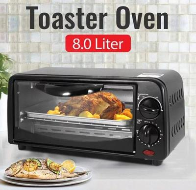 Osp 8 Liter Toaster Oven with Tempered Glass Door,Black,HTC118-EO