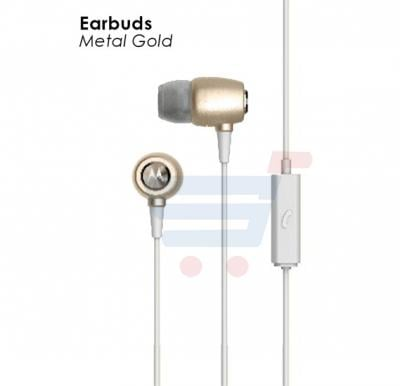 Motorola Earbuds Metal Gold In Ear headphone
