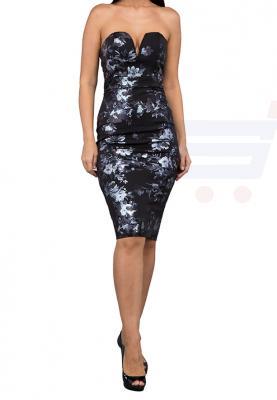 TFNC London Halo Floral Midi Party Dress Black - CTT 57770 - L