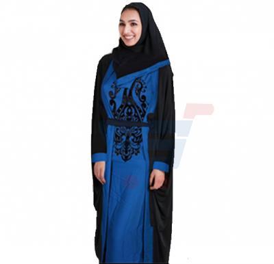 Ayishas Nida Colour Handmade Embroidery Abaya Style, ABY-2 Double
