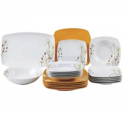 Flamingo Porcelain Square Type Dinner Set 20 PCS - FL7702PDS