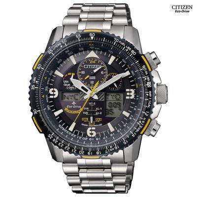 Citizen Mens Eco-Drive Blue Angels Skyhawk A-T Watch, JY8078-52L