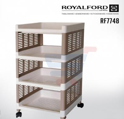 Royalford 4Layer Kitchen Storage Rack 36x30x78CM - RF7748