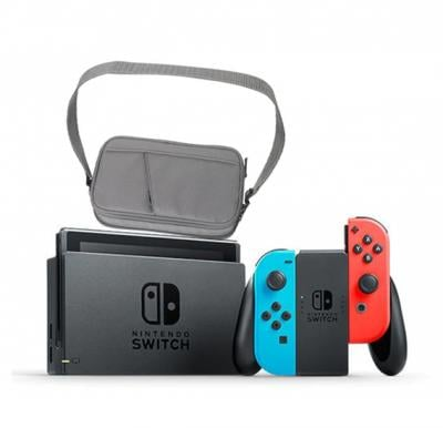 Nintendo Console Neon + Switch Bag  Offer Pack