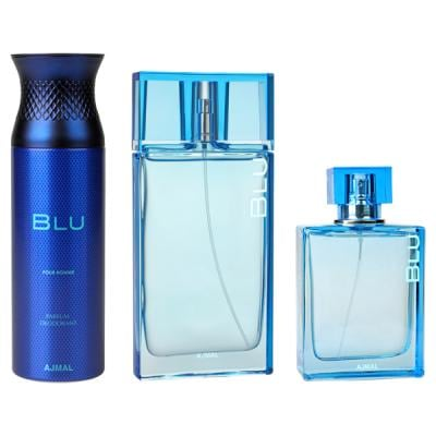 Ajmal Perfume Blu Gift Set  For Men,6293708007837