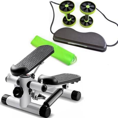 2 in 1 Fitness Pack of  Fitness Mini Stepper and Revoflex Total Body Fitness Exerciser