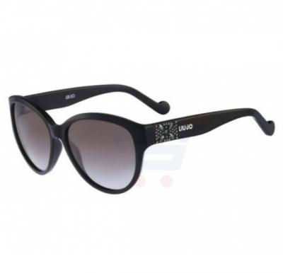 Liu Jo Oval Ebony Frame & Gradient Mirrored Sunglasses For Unisex - LJ622SR-424