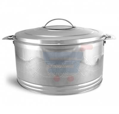 Royalford Stainless Steel Elite Silver line Hot Pot 4Ltr - RF7481
