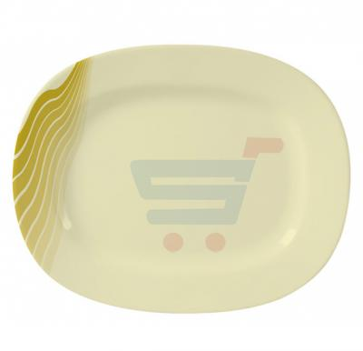 Royalford Melamine Ware 14 inch Oval Plate AquaThai Green - RF8109