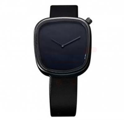 TOMI Unisex Leather Band Wrist Watch T077, Black
