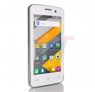 Enet T5 Mini 3G Smartphone,Android OS,4.0 Inch LCD Display,Dual Camera-White & Get Leather Cover Free