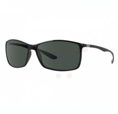 Ray-Ban Rectangular Black Frame & Green Mirrored Sunglasses For Unisex - RB4179-601-71-62