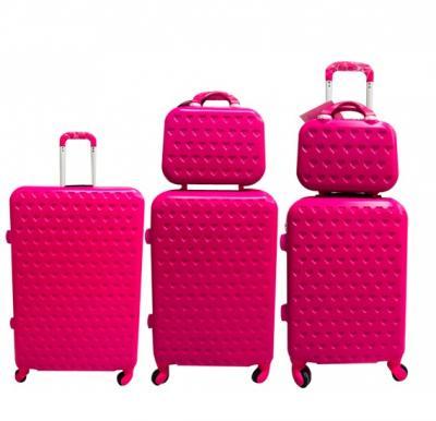 V3 5 Piece Trolly Bag  set pink 28,24,20,14,12