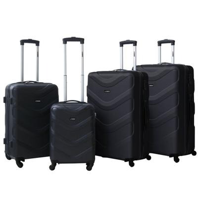 Stargold 4 PCS 20 inch, 24 inch, 28 inch and 32 inch ABS Trolley, SG-T89D, Black