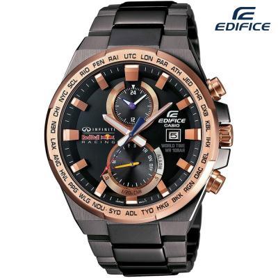 Edifice Chronograph Stainless Steel Black Dial Men Watch, EFR-542RBM-1ADR
