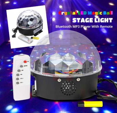 Crystal LED Magic Ball Stage Light Bluetooth MP3 Player with Remote
