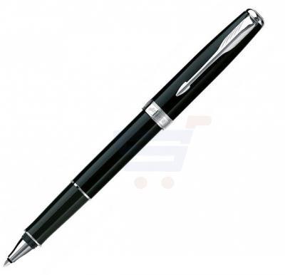 Parker Sonnet Black Lacquer Chrome Trim Rollerball Pen