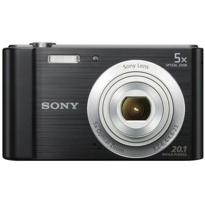 Sony Cyber Shot DSC-W800 Point and Shoot Digital Camera, 20.1 MP, Black