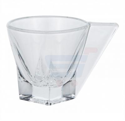 RCR Crystal Glass Fusion Espresso Coffee Cups with saucers 4 pieces
