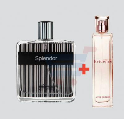 Couple Combo Offer! Splendor Eau de Perfume 100ml for Men & Comme Une Evidence 100ml Perfume For Women