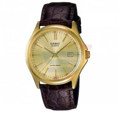 Casio Analog Watch For Women, Brown Leather Strap Band-LTP-1183Q-9A