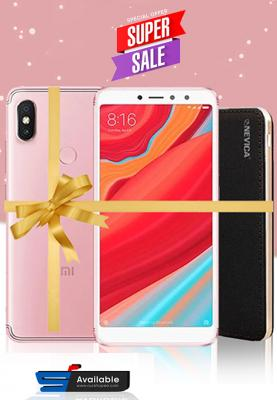 Xiaomi Redmi S2, Dual SIM, 32GB, 3GB RAM, 4G LTE, Pink, (Global Version) +  Nevica Power Bank - Battery : 10000 mAh, Xaiomi Mobile Bundle Offers
