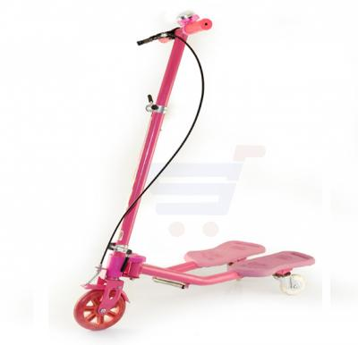 Frog sewing scooter with handbrake with ring bell 2152-Pink
