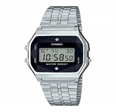 Casio stainless steel digital watch,A-159WAD-1DF