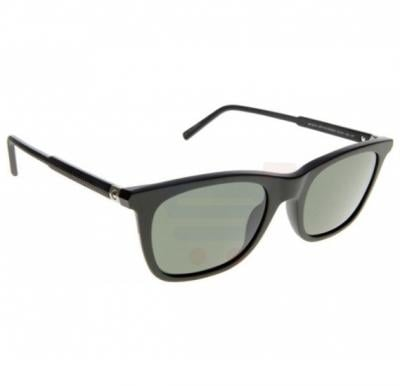 Mont Blanc Rectangular Black Frame & Black Mirrored Sunglasses For Men - MB607S-02R