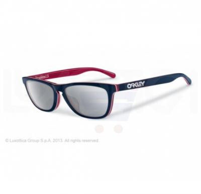 Oakley Wayfarer Navy Frame & Chrome Iridium Mirrored Sunglasses For Unisex - 0OO2043-204305