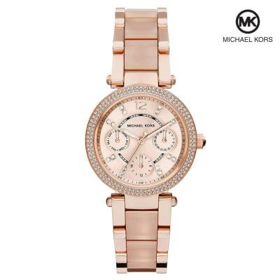Michael Kors SMK6110 Analogue Watches for Women, Rose Gold