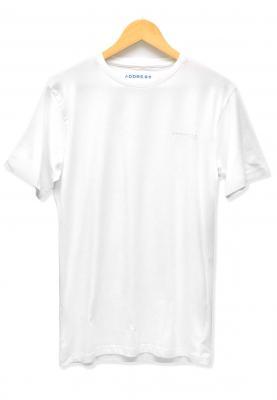 Address White Plain T-Shirt Round Neck, Large