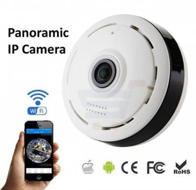 Panoramic 360° Smart Home Video Camera V380, Wifi Night Vision,Motion Detection, 2-Way Audio