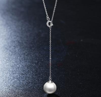 Tiara Elements Imitation Pearl White Gold Plated Neckalce - UN0113B