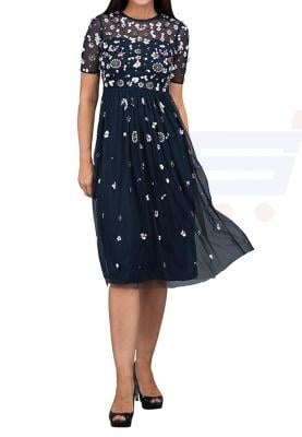 TFNC London Baby with Lining Formal Dress Navy - LNB 18375 - L